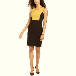 NWT KASPER | Color Block Yellow/Black Dress